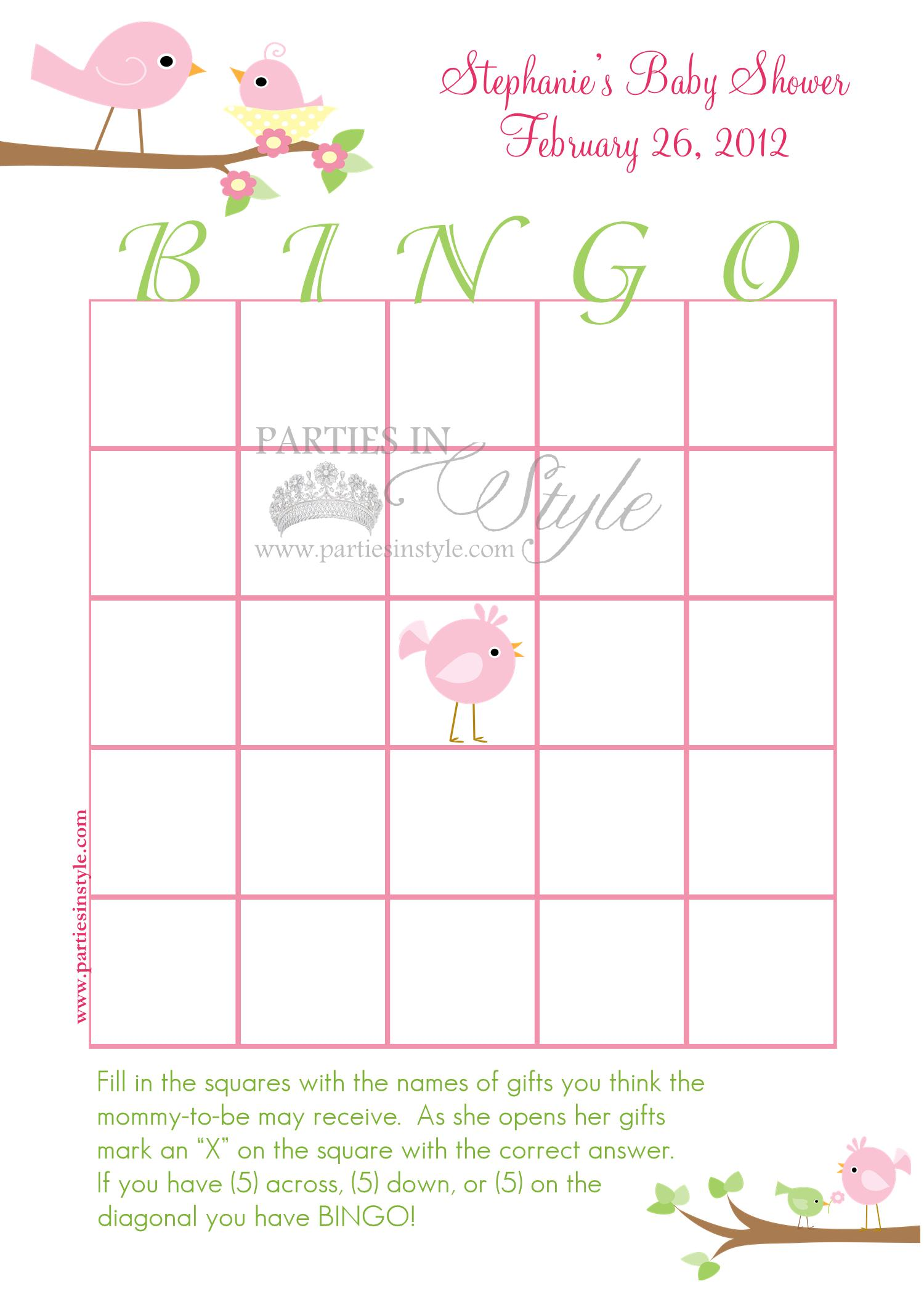 baby shower game bingo printable diy 5 reviews baby shower game bingo ...